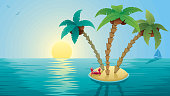 Small Island Landscape Sunrise