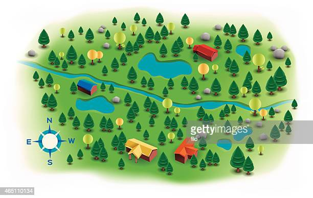 Small Landscape Trees and Homes Map