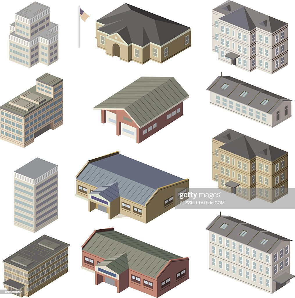 Small, Med, large buildings