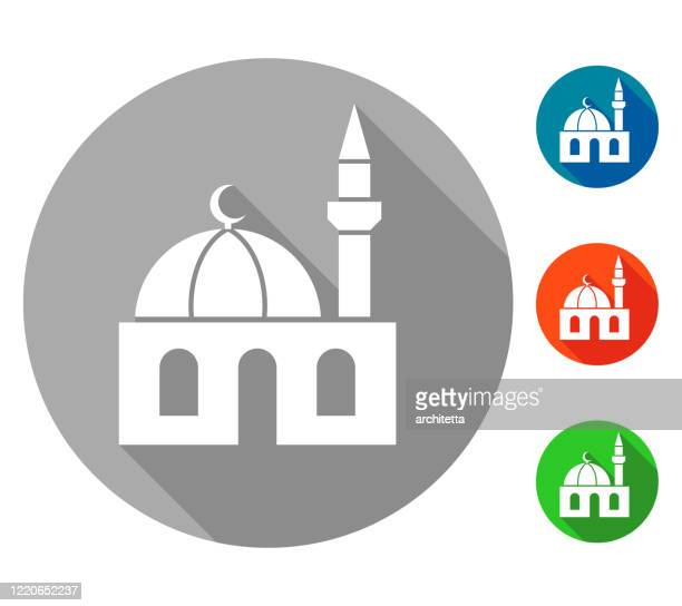 small mosque icon vector - mosque stock illustrations