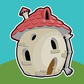 small mushroom house