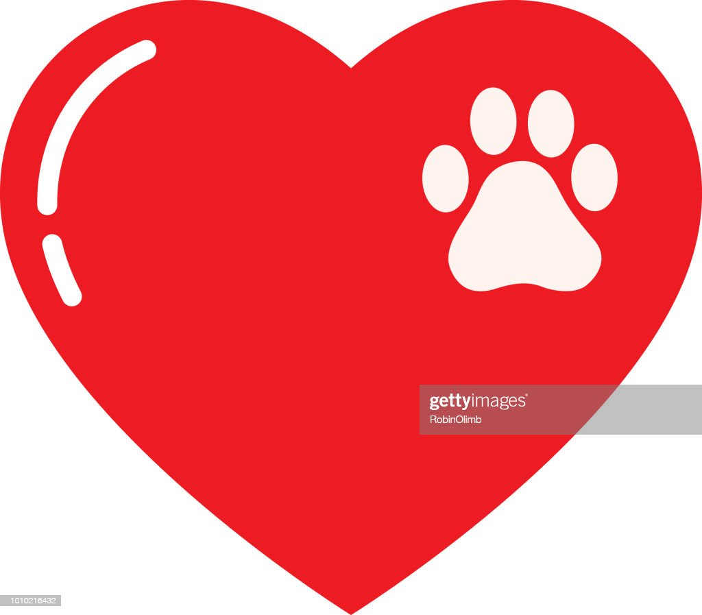 Small Paw Print Heart
