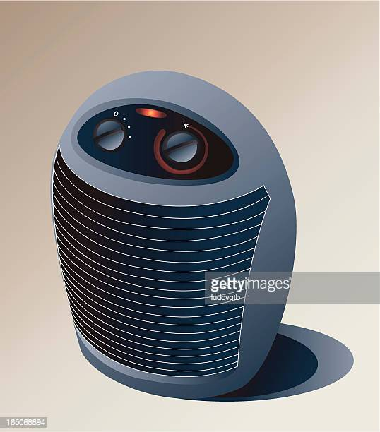 small portable heater - electric heater stock illustrations, clip art, cartoons, & icons