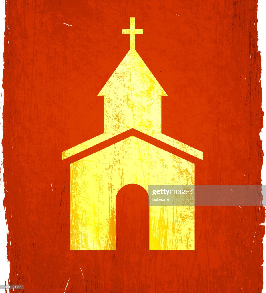 small rural church on royalty free vector Background