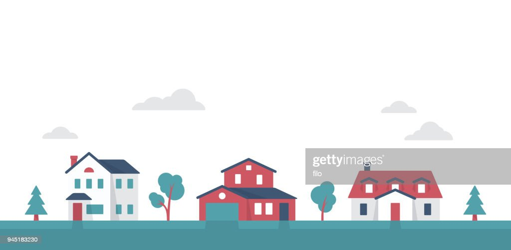 Small Suburban Neighborhood Community Houses