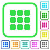 Small thumbnail view mode vivid colored flat icons icons