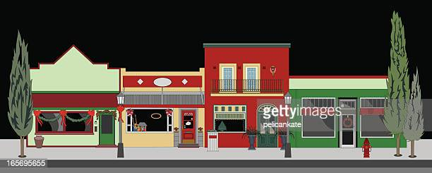small town christmas - national holiday stock illustrations, clip art, cartoons, & icons