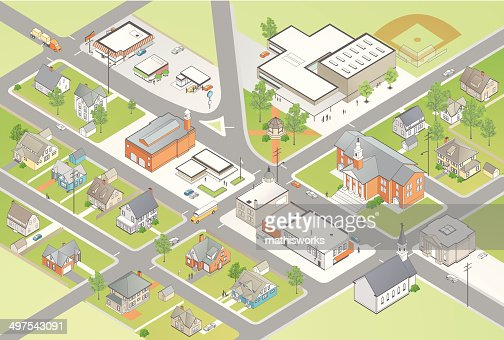 Small Town Illustration
