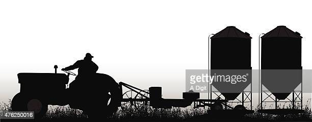small tractor - tractor stock illustrations