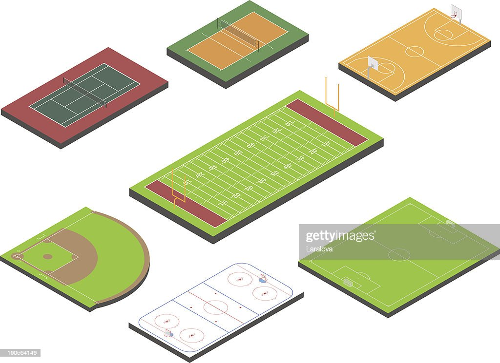 Small variety of sport field icons