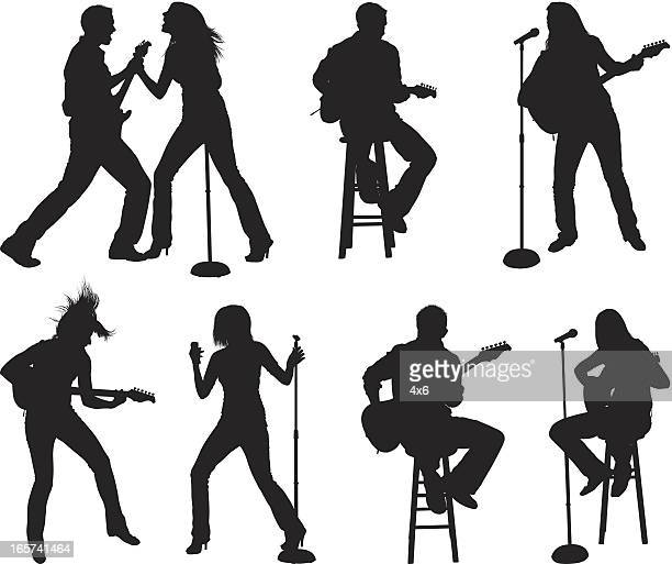 small venue musical performance - guitarist stock illustrations, clip art, cartoons, & icons