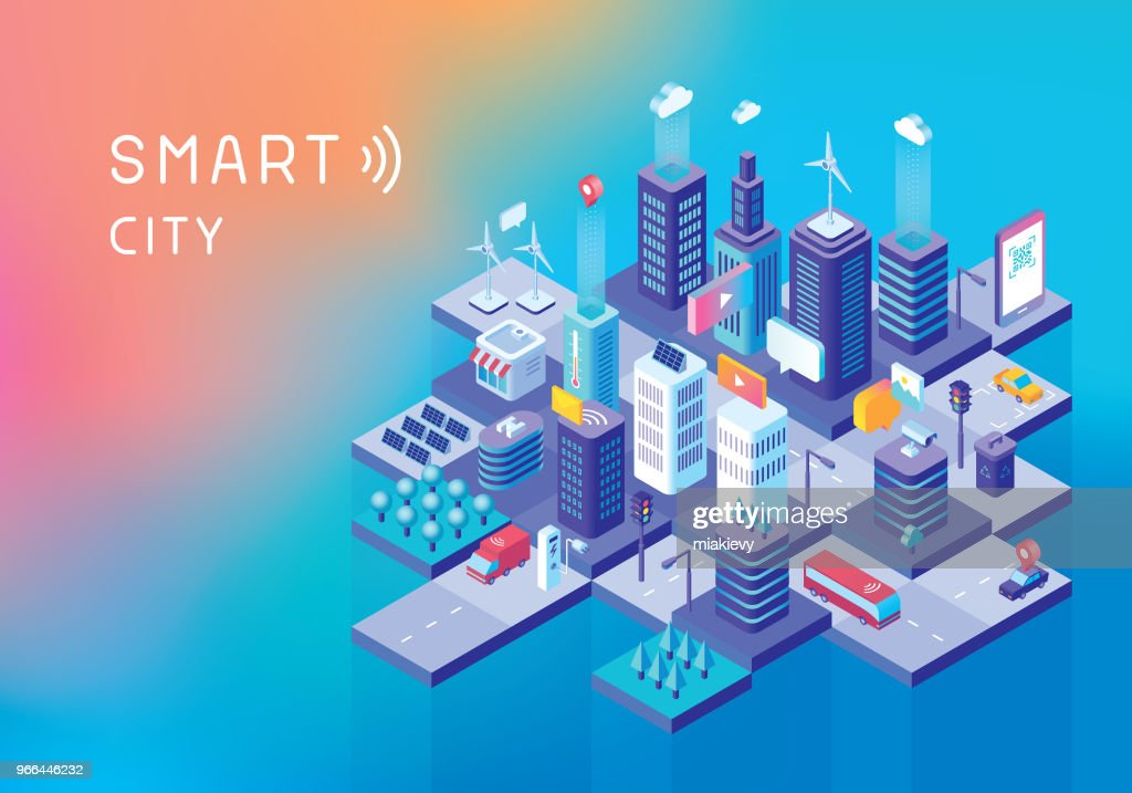 Smart city concept : Stock Illustration