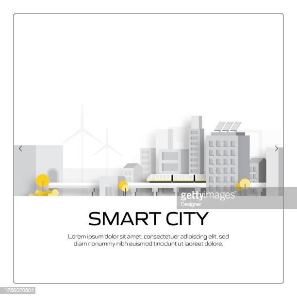 スマートシティコンセプトベクターイラスト、ウェブサイトバナー、広告・マーケティング資料、オンライン広告、ビジネスプレゼンテーションなど - スマートシティ点のイラスト素材/クリップアート素材/マンガ素材/アイコン素材