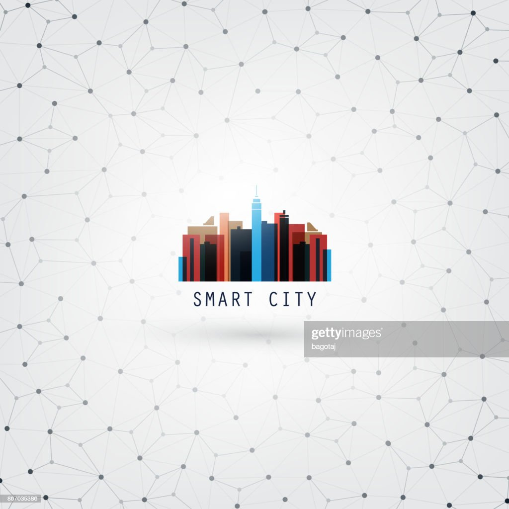 Smart City, Networks, Internet Of Things Design Concept