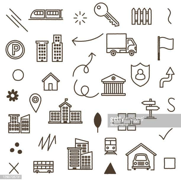 illustrations, cliparts, dessins animés et icônes de conception de modèle transparente de solution de ville intelligente. - abribus