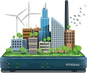 Smart city wireless connected