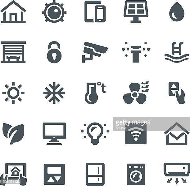 smart home icons - electric fan stock illustrations, clip art, cartoons, & icons