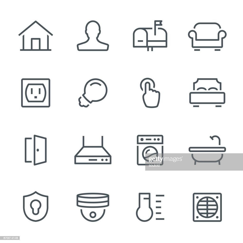 Smart Home Icons : stock illustration
