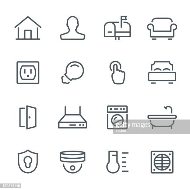 smart home icons - domestic room stock illustrations, clip art, cartoons, & icons