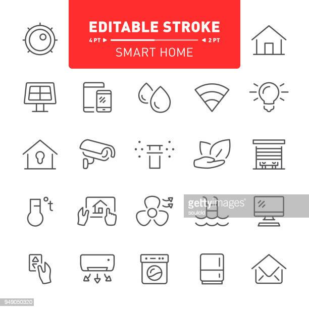 smart home icons - electric fan stock illustrations
