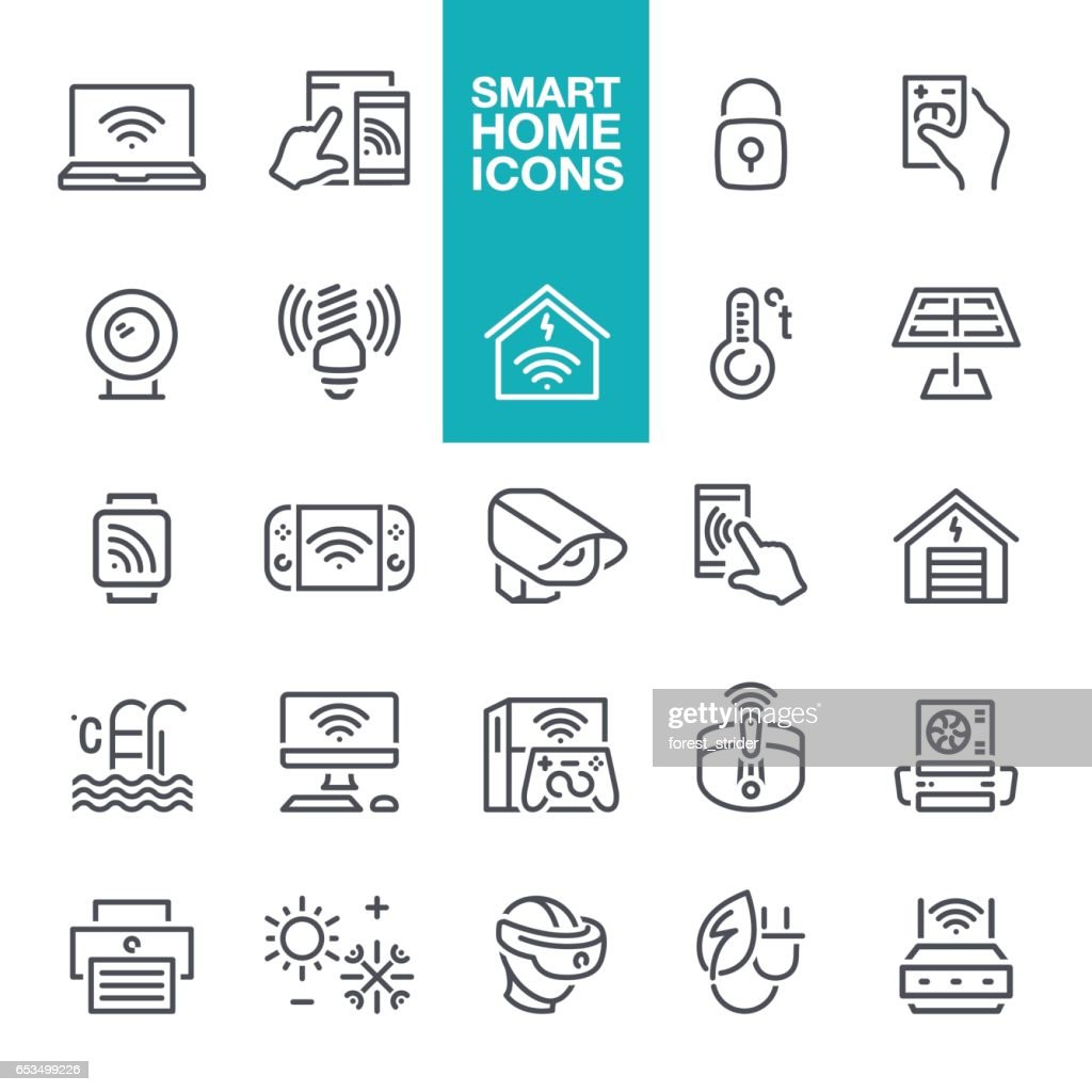 Smart Home Line Icons