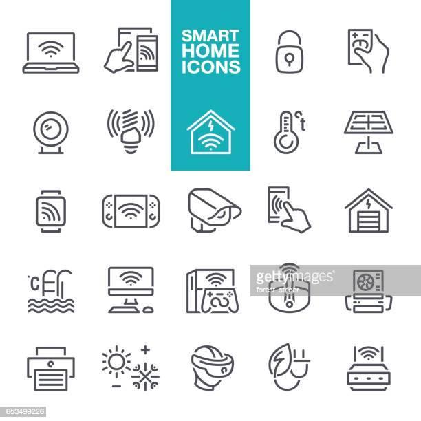 Smart Home Line Icons