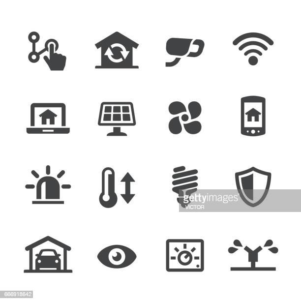smart house icons - acme series - efficiency stock illustrations, clip art, cartoons, & icons