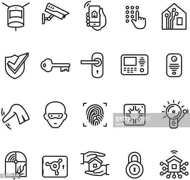 Smart house security system icon