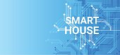 Smart House Technology Control System Icon Infographic With Copy Space