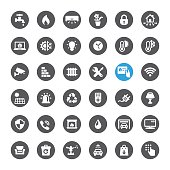 Smart House Technology related vector icons