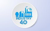 Smart Industrial  4.0 Technology concept Vector