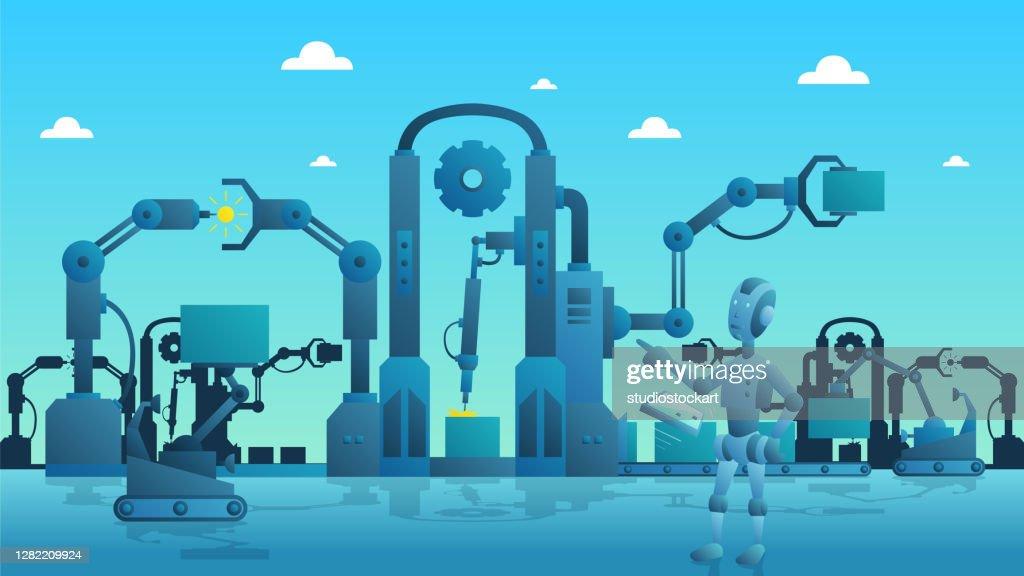 Smart industry production process : stock illustration