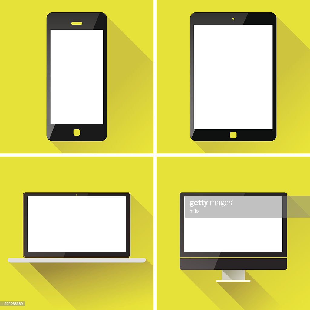 Smart phone and tablet : stock illustration