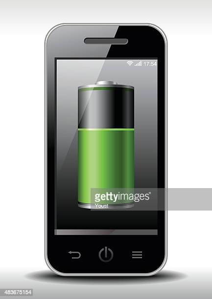 smart phone charging - electric vehicle charging station stock illustrations