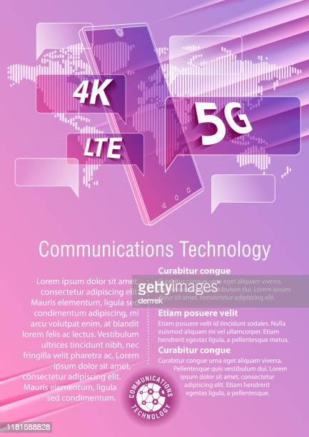 smart phone, communications technology - ultra high definition television stock illustrations