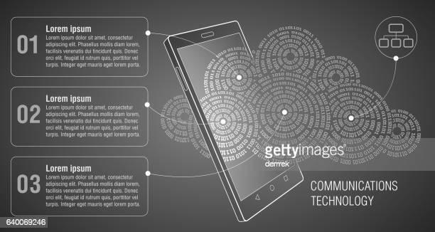 smart phone. communications technology. - electronic organizer stock illustrations, clip art, cartoons, & icons