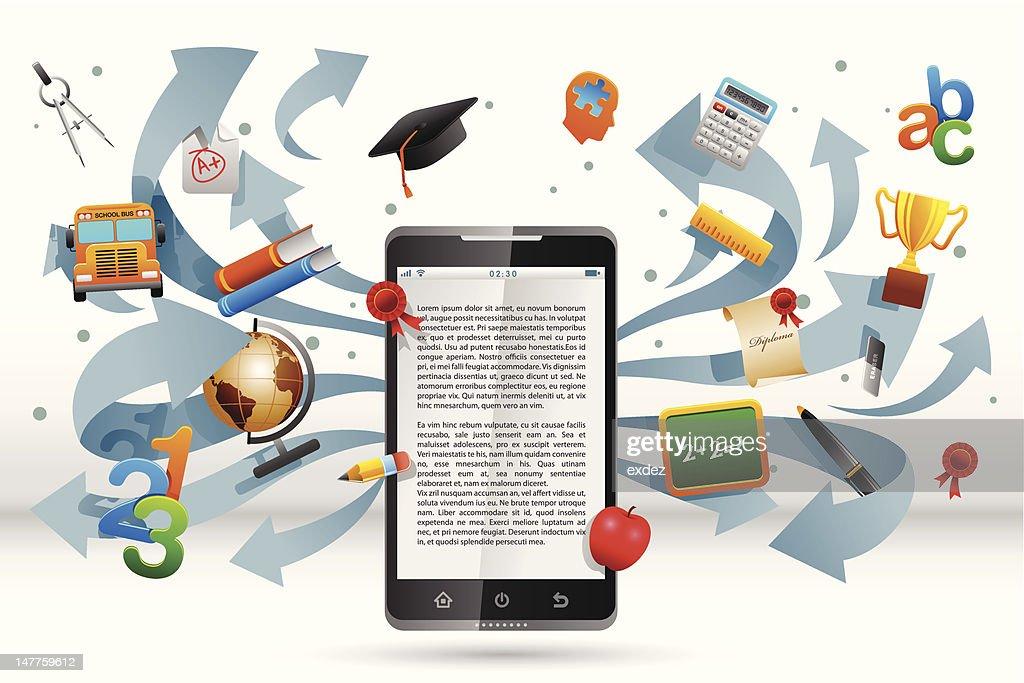 Smart Phone for education : stock illustration
