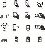 Smart Phone Functions & Gestures Icons