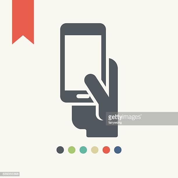 smart phone icon - blank screen stock illustrations, clip art, cartoons, & icons
