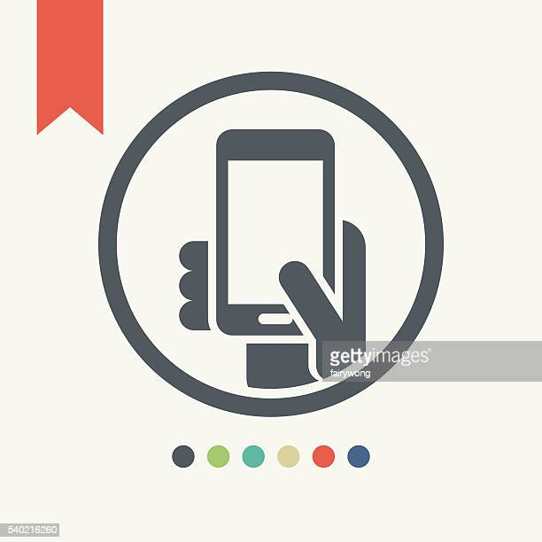 smart phone icon - photo messaging stock illustrations