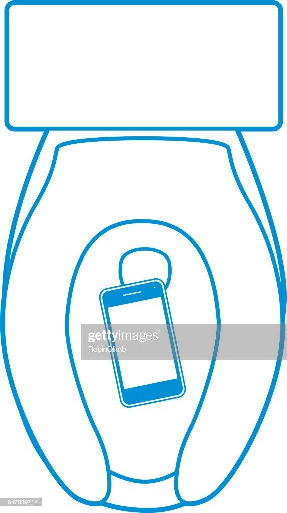 Smart Phone In Toilet