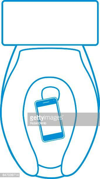 Smart Phone In Toilet
