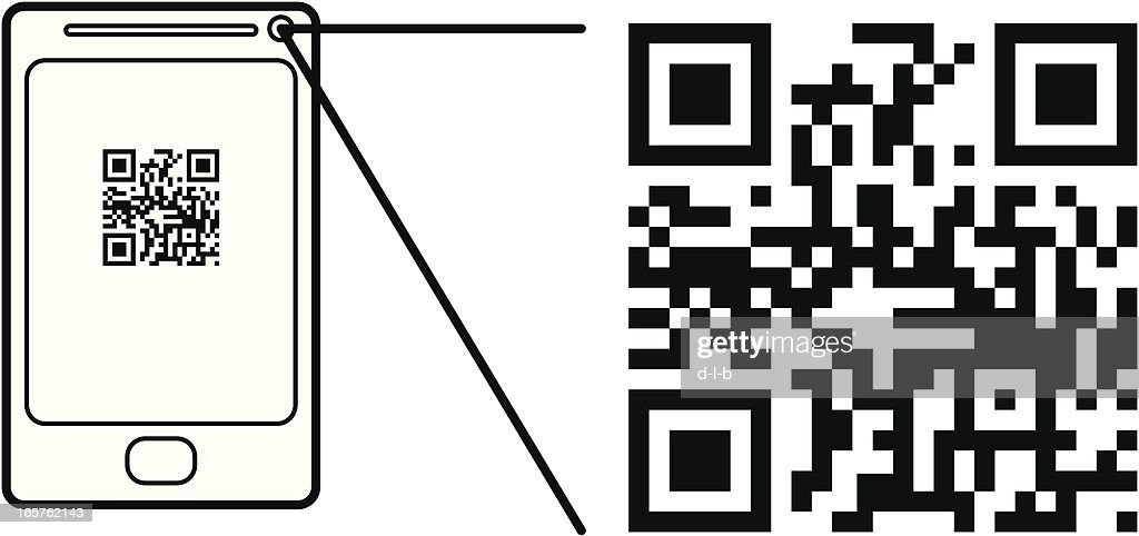 Smart Phone Scanning a QR Code