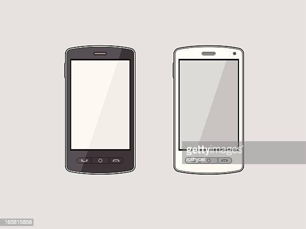 smart smartphone - electronic organizer stock-grafiken, -clipart, -cartoons und -symbole