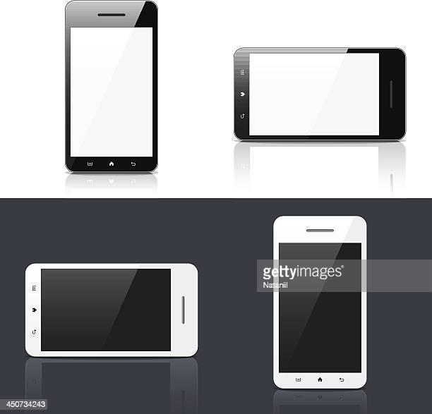 smart phone - blank screen stock illustrations, clip art, cartoons, & icons