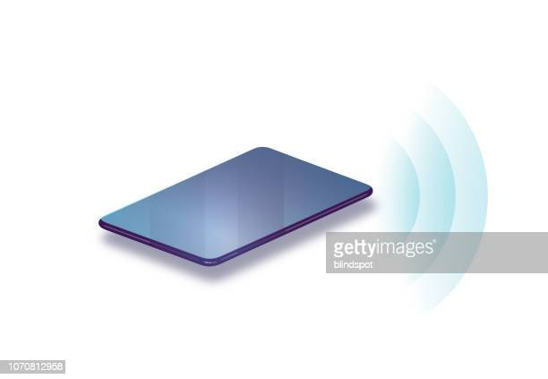 smart phone wireless connection - bluetooth stock illustrations