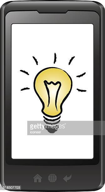 Téléphone intelligent avec ampoule électrique