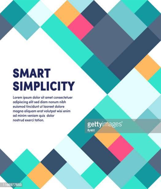 smart simplicity moderne & geometrische vektor-illustration - bildschirmpräsentation stock-grafiken, -clipart, -cartoons und -symbole