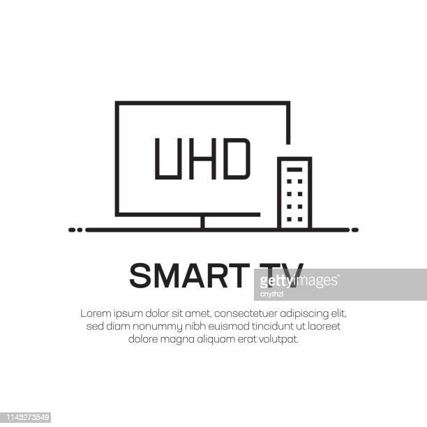 Smart Tv Vector Line Icon-Simple Thin Line Icon, Premium Quality Design Element