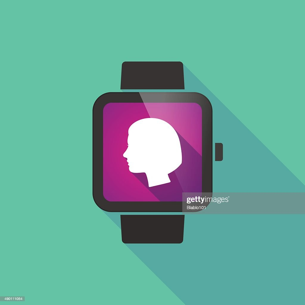 Smart watch with a female head